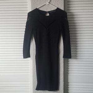 Black fitted Karen Miller bodycon dress